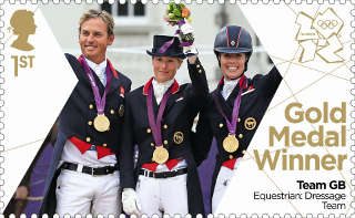 Photo of the Equestrian Dressage Olympic Gold Medal Winning Team of 2012